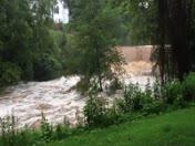 Waterfall at Elkin Public Library
