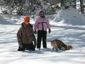 Sam enjoying first big snow