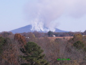 View of Pilot Mtn. Fire from Copeland