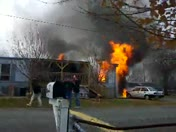 Trailer Fire in Winston Salem 12/12/12