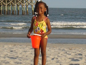 Cruising the beach for seashells