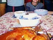 MY 87 yrs old Mother June Bell and Thanksgiving Turkey