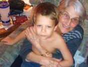 Granny Bell 87 with great grandson Donovin Bell age 6- Thanksgiving Day