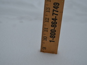 """8.5"""" in Bella Vista, AR while snow continues to fall!"""