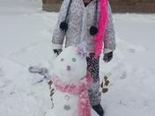 haydens first snowman