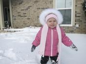 Our little snow bunny Brielle