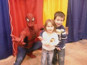 Kids with Spiderman