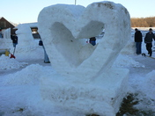 Snow Carving: Heart