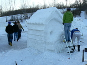 Snow Carving: Spike In The House