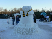 Snow Carving: Beaver