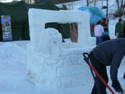 Snow Carving: The Well