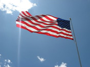 American Flag at the Iowa Speedway
