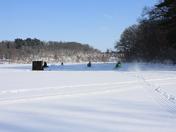 Ice Fishing / Snowmobiling at Pine Lake in Eldora