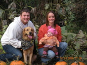 Family Picture in the Pumpkin Patch
