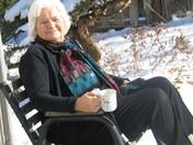 Mom enjoying the sun Jan 22, 2009.JPG