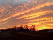 Panoramic of sunrise this morning Jan 16