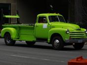 Bright Green Truck
