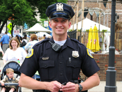 Happy Officer  - DSM Downtown Farmers Market May 23, 2009