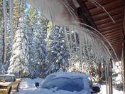 Winter's Ice sculpture creations in the Sierra's..