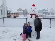 Huge snowman