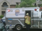 ambulance from the apartment fire.