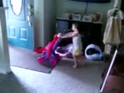 caylee taking elmo for a walk