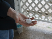 Hail in Mount Washington Ky 2 March 2012