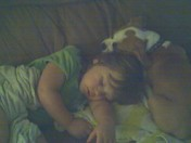 grandaughter and puppy