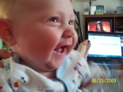 Noah Laughing out Loud for the first time!