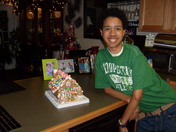 drew's gingerbread house