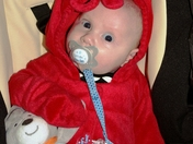 Aaron the Lobster Boy (first Halloween)