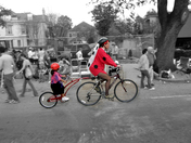 Bicycling to the Parade!