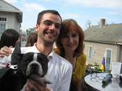 """Margaret, Kyle, and Mattie """"Batdog"""""""