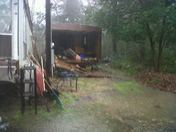 Mobile home side blown off