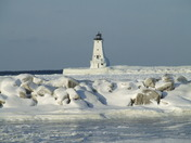 Ludington lighthouse in Michigan