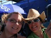 My mother and I at Jazz Fest 2010