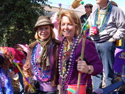 Former roomates from 25+ yrs ago connect at mardi gras