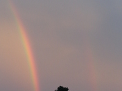 double rainbow in belle chasse before Isaac
