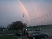Isaac sends beautiful rainbow.