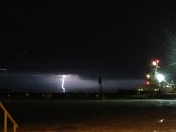 Port fourchon!! Lightning in the far!