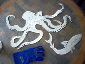 stainless steel octopus by funkyiron
