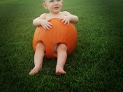Jaxson's 1st Pumpkin Carving