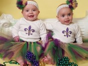 Paige and Kennedy ~ My 1st Mardi Gras ~ 2009