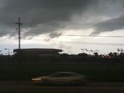 Rain clouds over UNO Keifer Arena