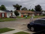Flying kites during Isaac