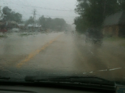 rain was really coming down in Slidell