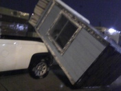 Guard Shack at Port of New Orleans blown over.