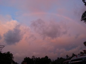 Rainbow before the storm