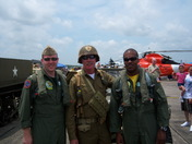 Yours truly and Raptor pilots