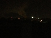something big on fire looking towards the Huey P from MidCity (hard to see)